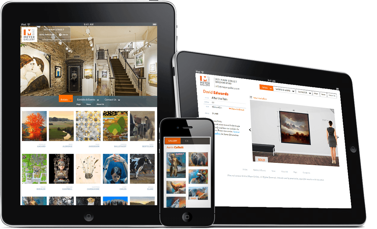 Meyer Gallery Responsive Website